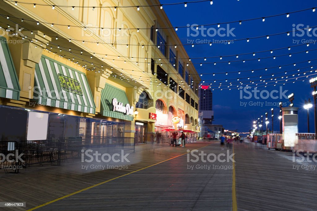 Atlantic City, New Jersey Boardwalk stock photo