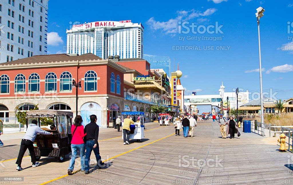 Atlantic City New Jersey Casinos and Hotel stock photo