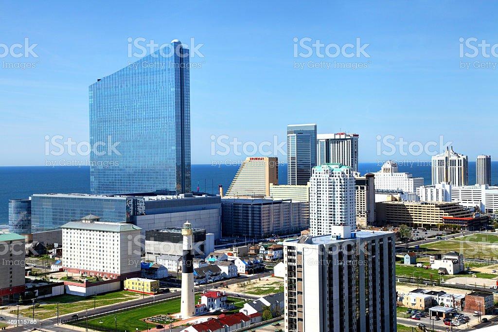 Atlantic City New Jersey Skyline stock photo