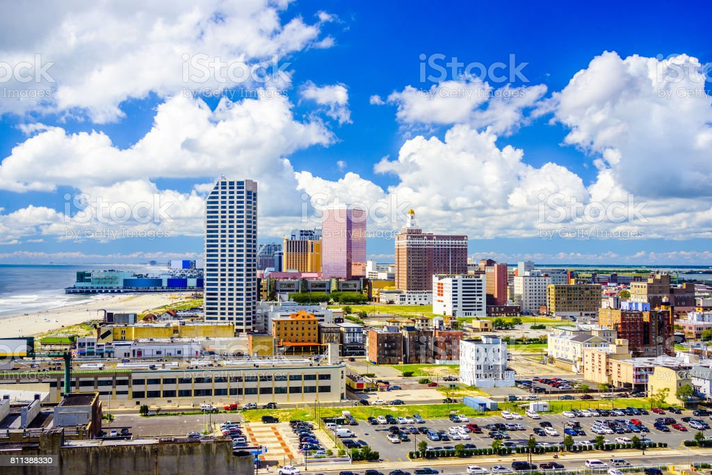 Atlantic City, New Jersey Skyline stock photo