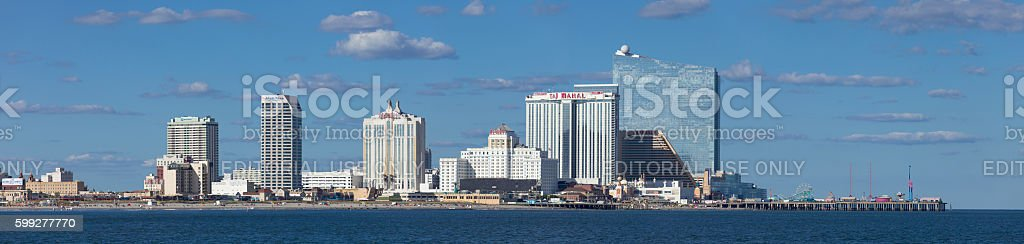 Atlantic City Panoramic stock photo