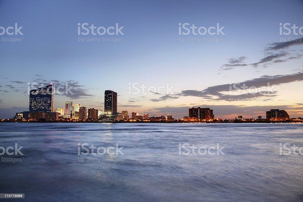 Atlantic City Skyline royalty-free stock photo