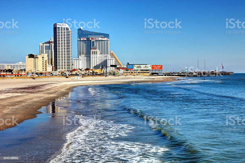 Atlantic City Skyline stock photo