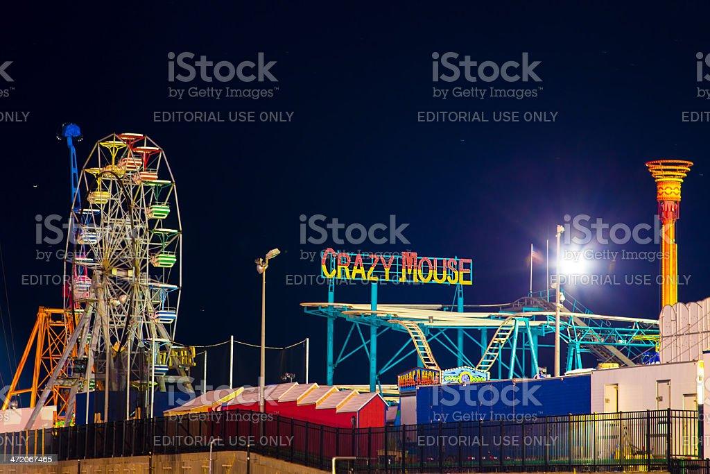 Atlantic City Steel Pier Rides stock photo