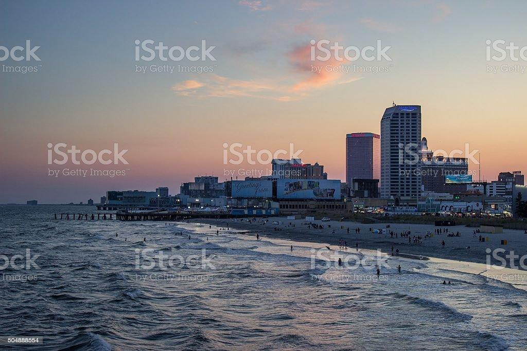 Atlantic City Sunset stock photo
