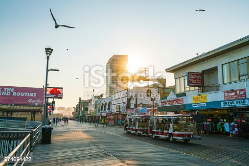 Atlantic city,new jersey,usa. 09-04-17: Atlantic City Boardwalk at sunset.
