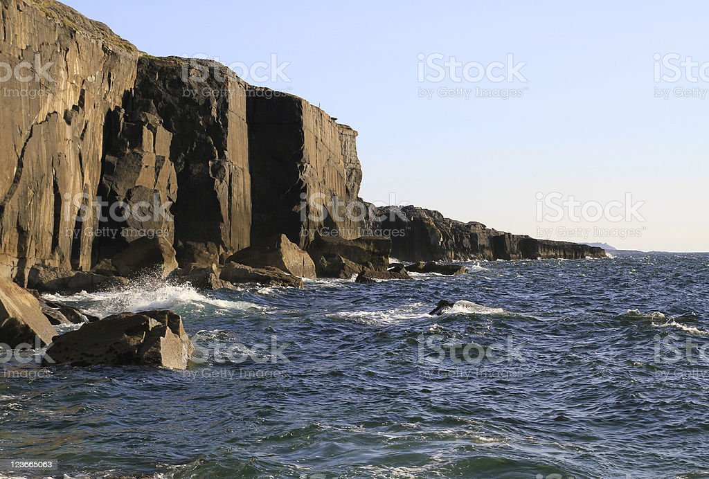 Atlantic cliff royalty-free stock photo