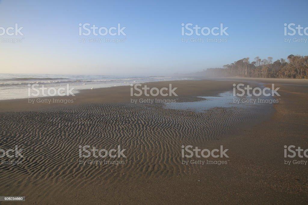 Atlantic Coast Morning Beach Foam, Ripples, Beaufort, South Carolina