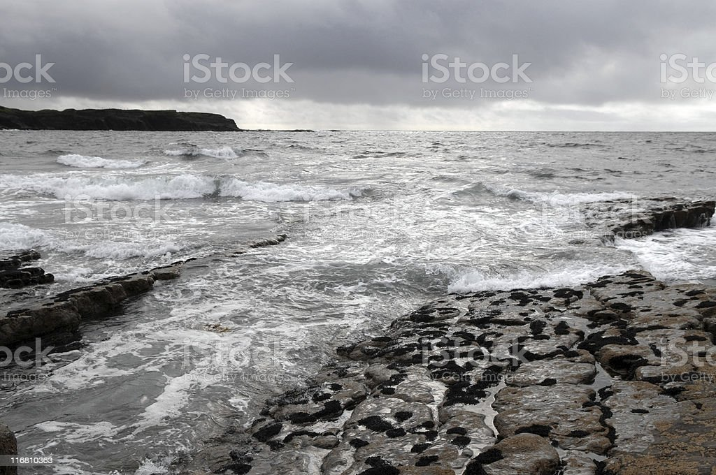 Atlantic coast near Doolin royalty-free stock photo