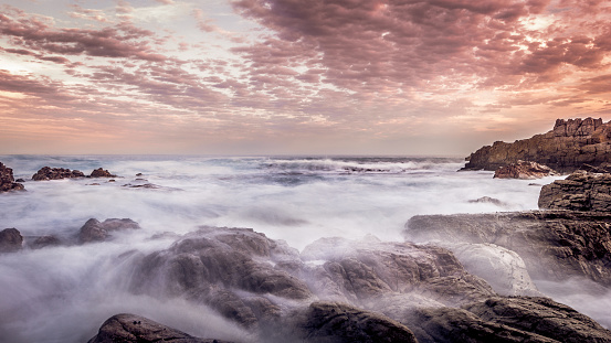 Atlantic Ocean At Sunset Stock Photo - Download Image Now