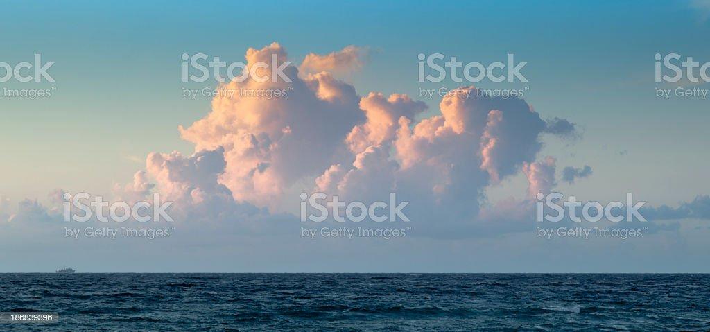 Atlantic Ocean Brilliant Sunrise Cloudscape stock photo