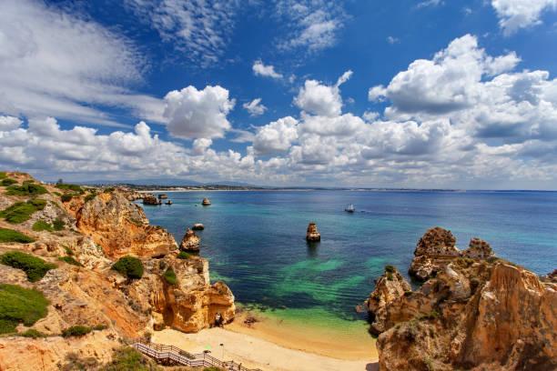 Océano Atlántico - playa de Camilo, Lagos, Algarve, Portugal - foto de stock