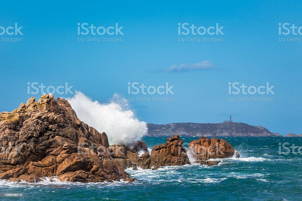 Atlantikküste in der Bretagne – Foto