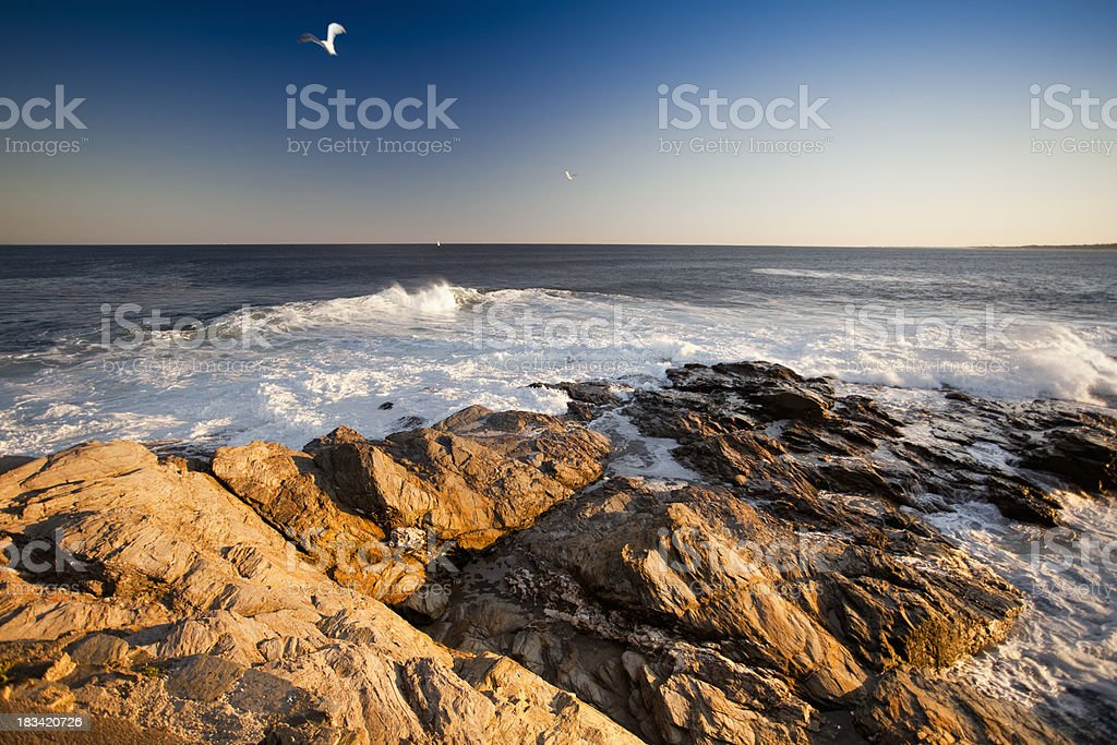 Atlantic Ocean coast stock photo
