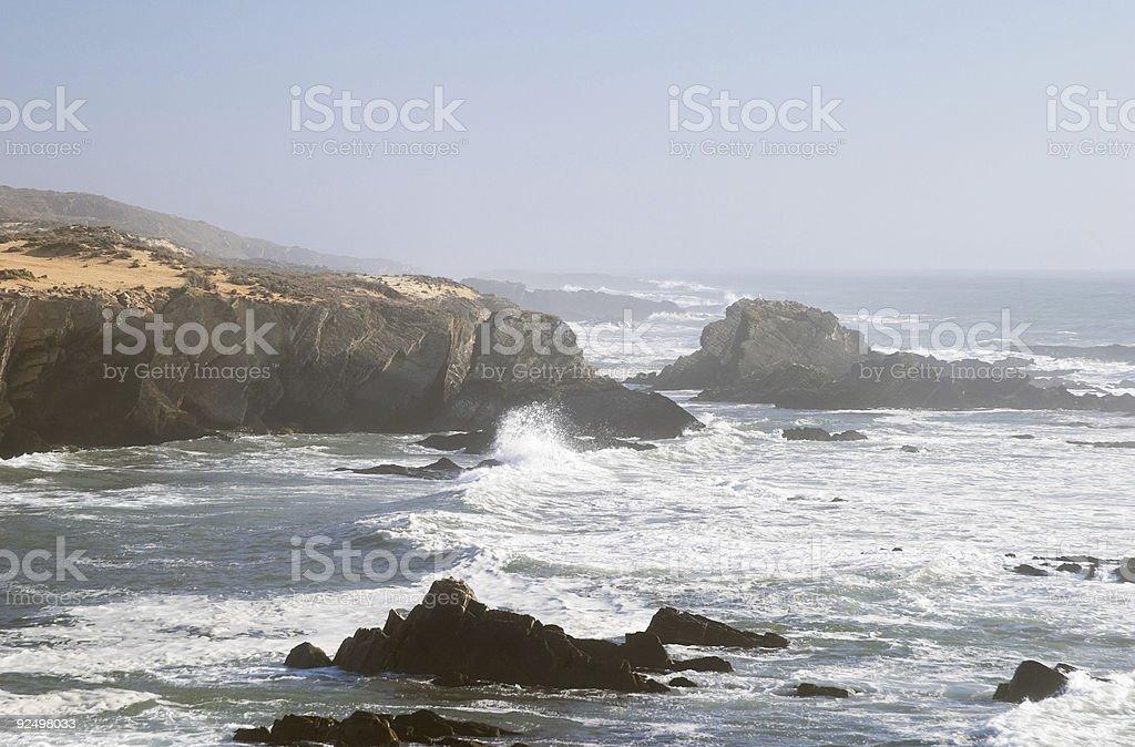 Atlantic ocean reef coast at Almograve, Alentejo, Portugal royalty-free stock photo