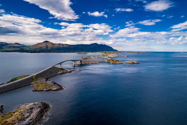 Atlantic Ocean Road Luftaufnahmen. – Foto