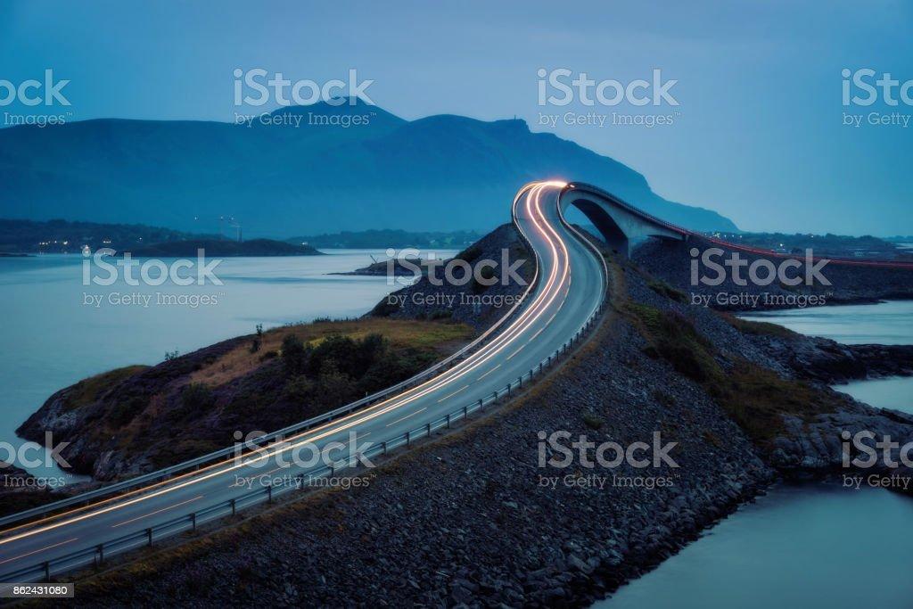Atlantic Ocean Road Norway stock photo