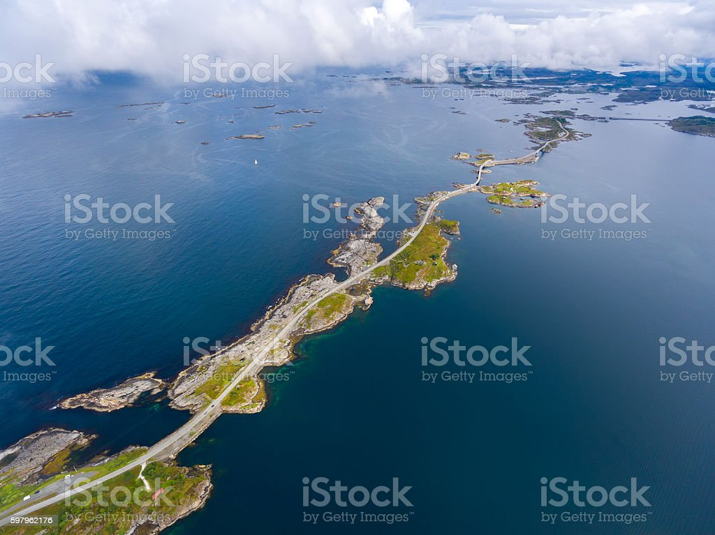 Atlantic Ocean Road stock photo