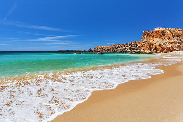 Océano Atlántico, Sagres Algarve en Portugal - foto de stock
