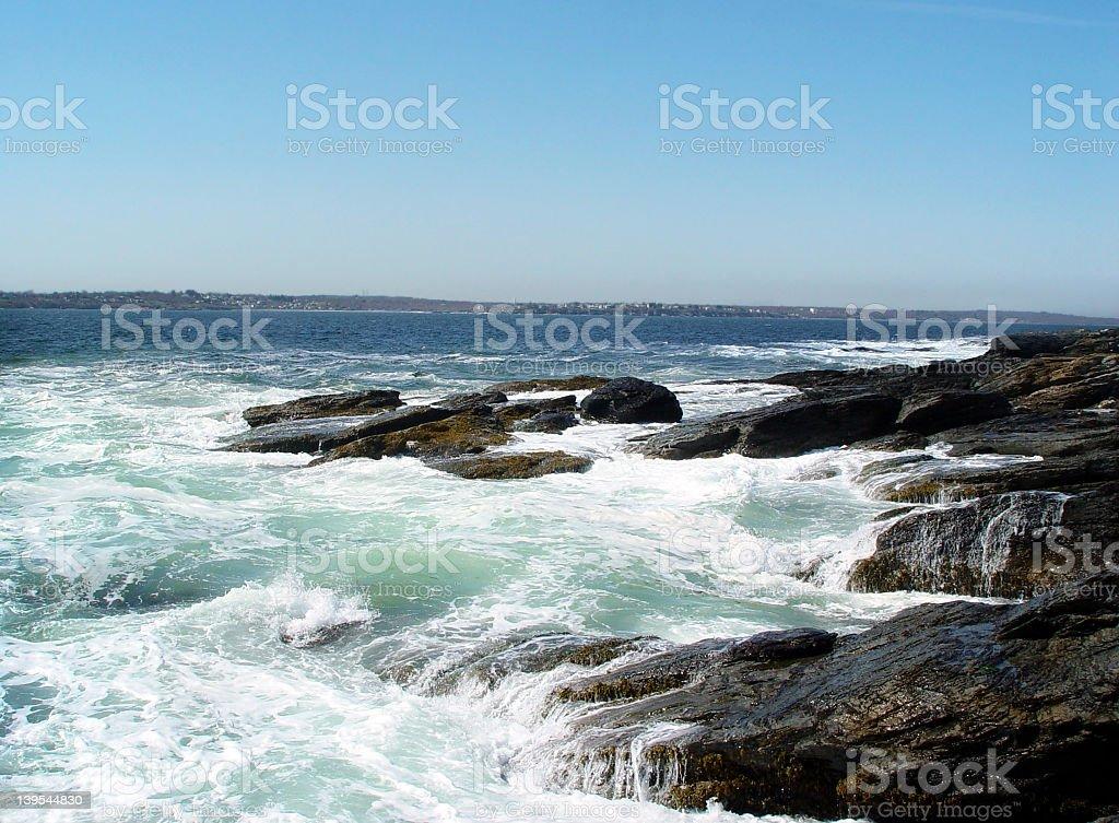 Atlantic Ocean Scenic View at High Tide royalty-free stock photo