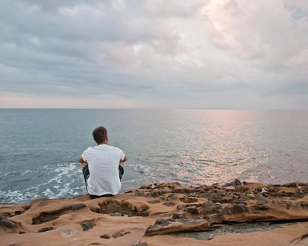 Atlantic ocean sunrise stock photo