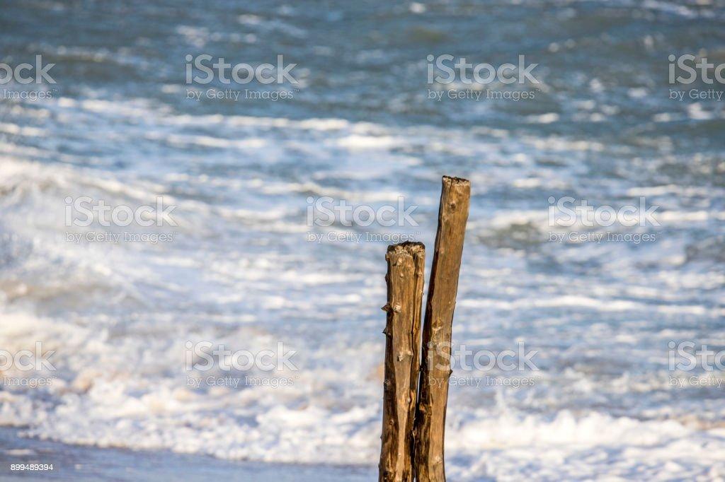 Atlantic ocean tempete oleron stock photo