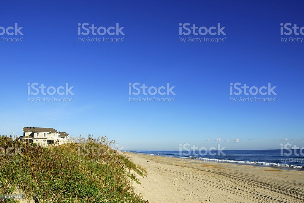 Atlantic Oceanfront Property stock photo