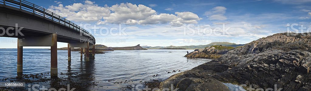 Atlantic road - Norway royalty-free stock photo