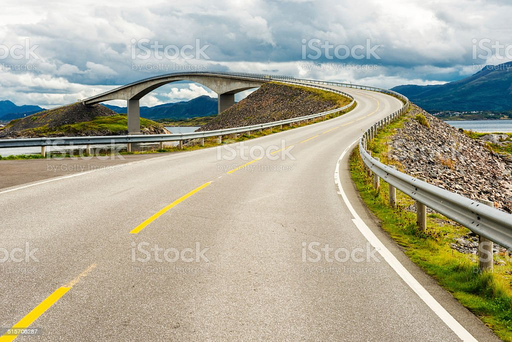 atlantic road stock photo