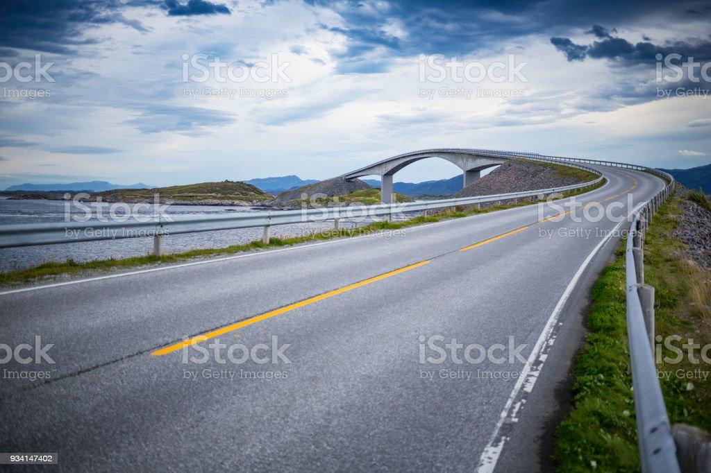 Atlantic Road (Atlanterhavsveien) stock photo