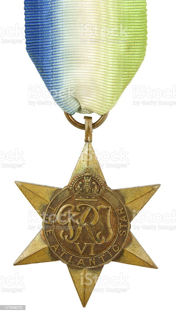 Atlantic Star Medal stock photo