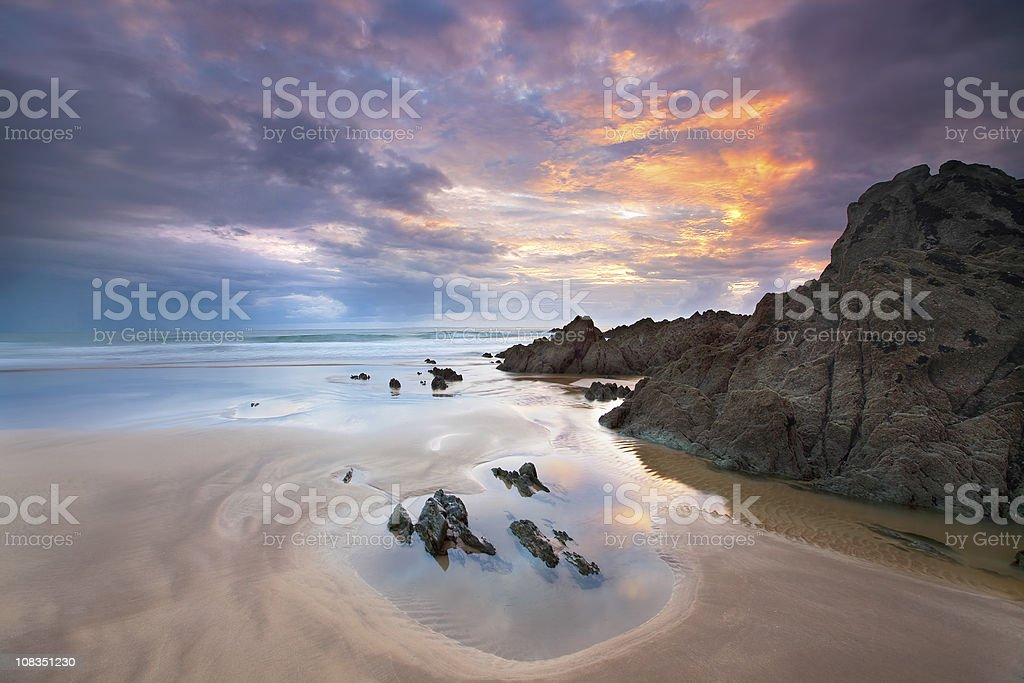 Atlantic Sunset stock photo