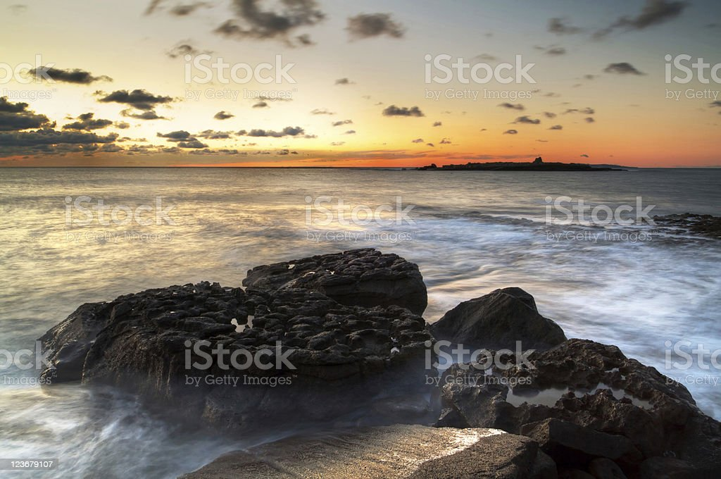 Atlantic sunset stock photo