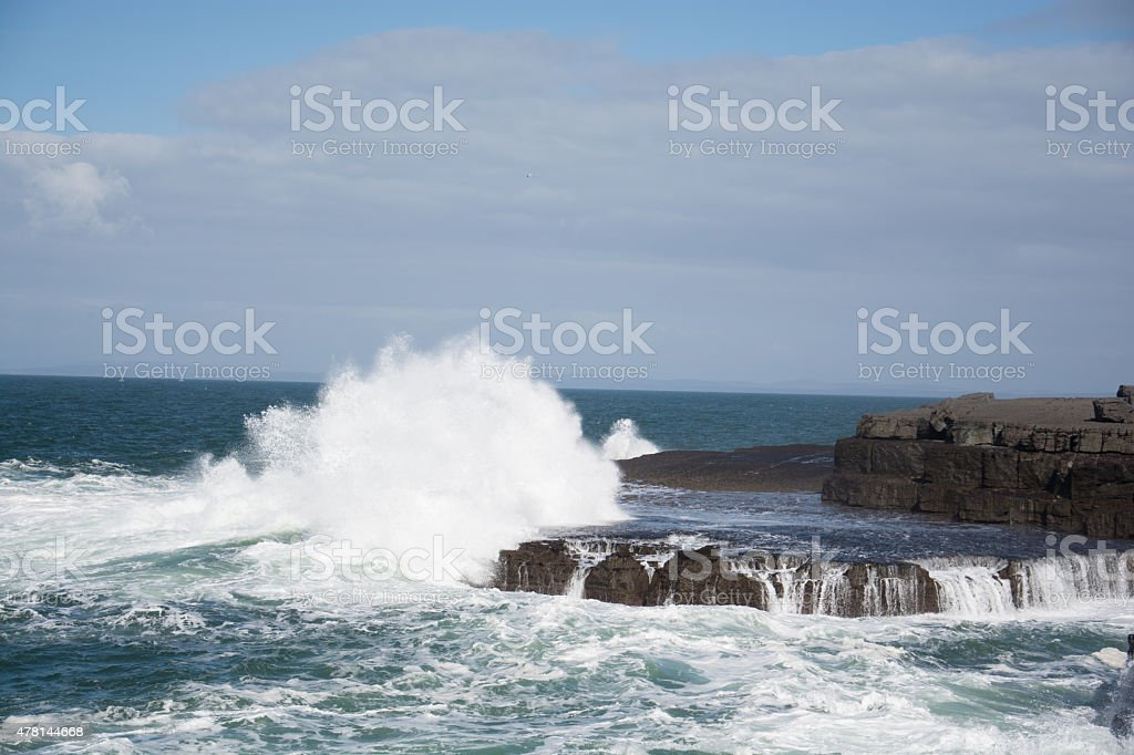 Atlantic wave - Doolin stock photo