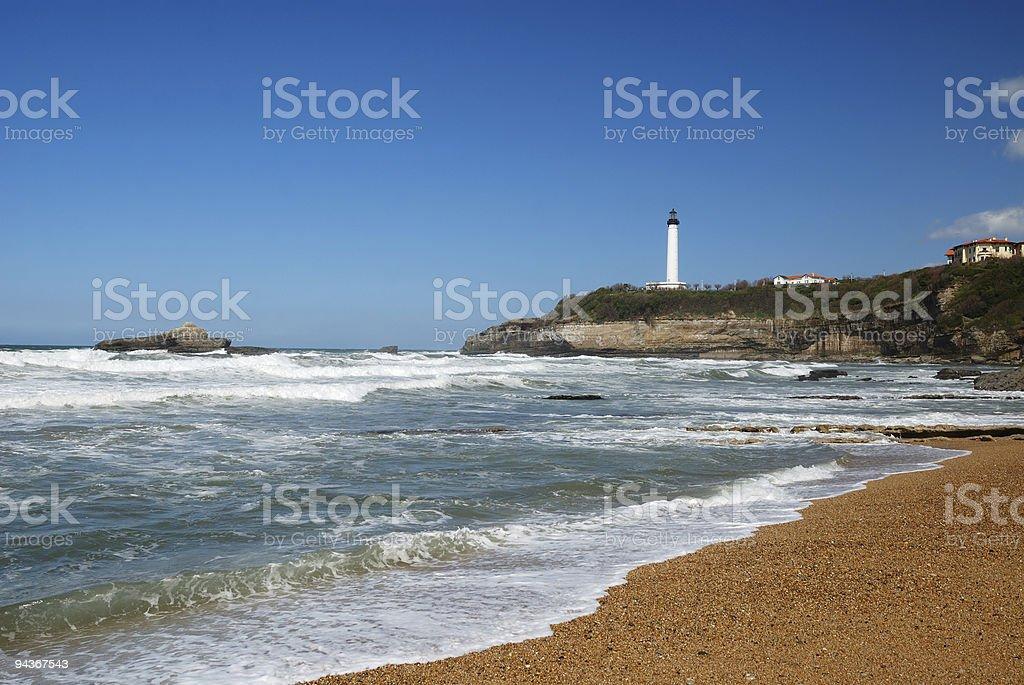 Augmentation des vagues de l'océan Atlantique en direction de Biarritz - Photo
