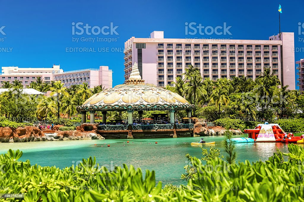 Atlantis Paradise Island and aquatic park, Nassau The Bahamas stock photo