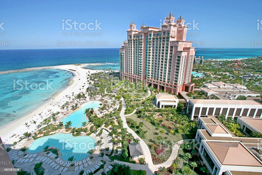 Atlantis Paradise Island Bahamas stock photo
