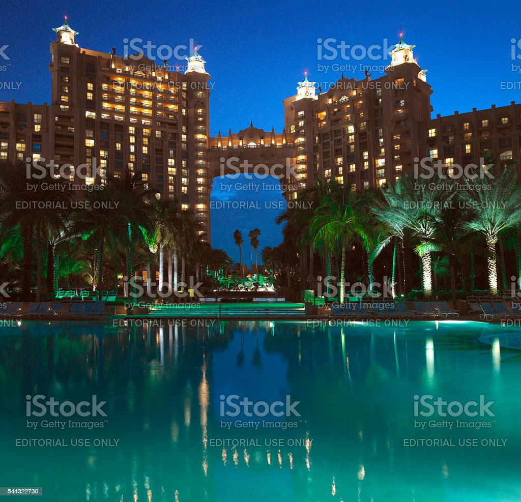 Atlantis - Paradise Island - Bahamas. stock photo