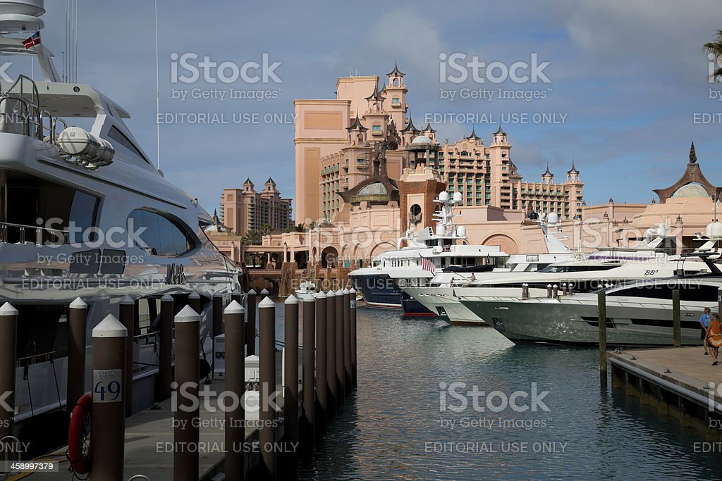 Atlantis Resort in Nassau, Bahamas, Paradise Island stock photo
