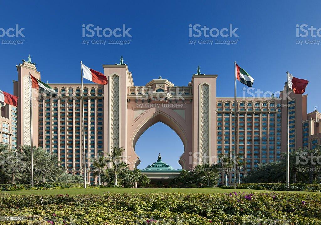 Atlantis The Palm Hotel in Dubai United Arab Emirates stock photo