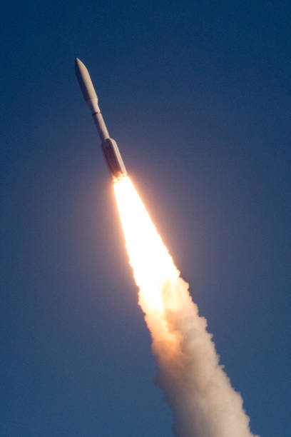 아틀라스 5 로켓 발사 스톡 사진