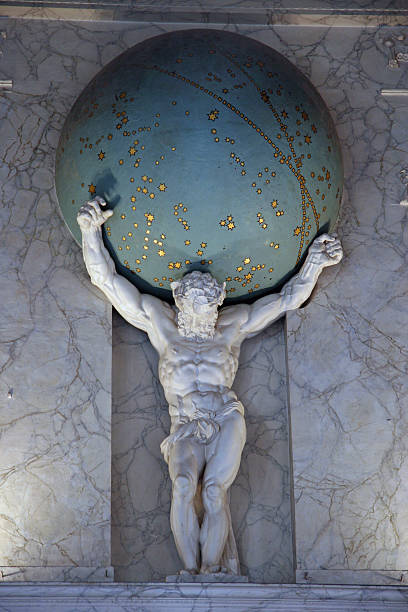 Atlas Carries The Earth stock photo