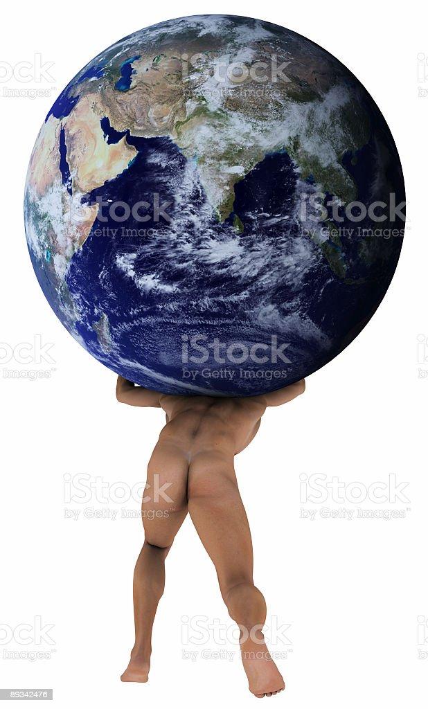 Atlas Holding Erde über Der Schulter Stock-Fotografie und mehr ...