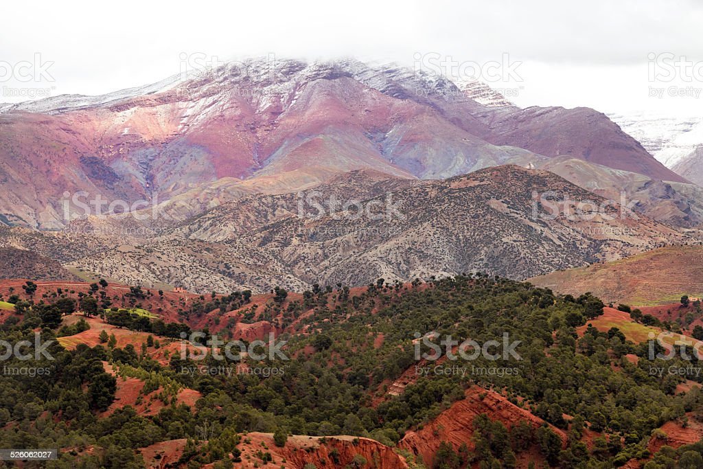 Atlas Mountain Pass Morocco,south Africa stock photo