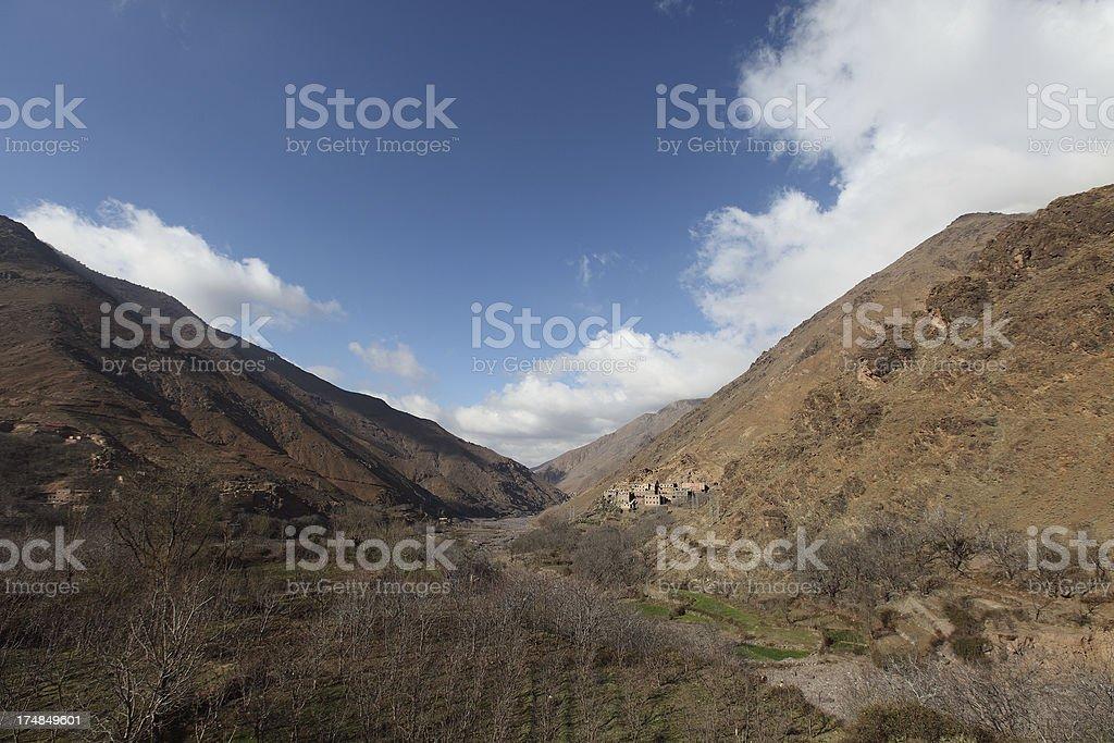 Atlas Mountain Valley royalty-free stock photo