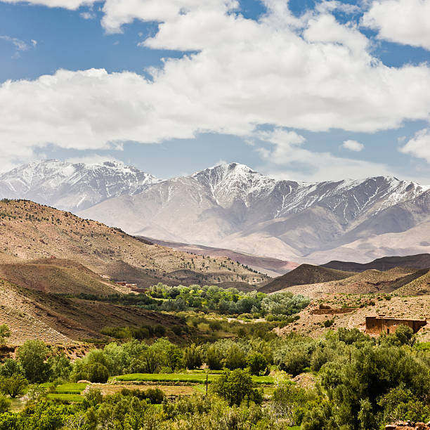 Atlas Mountains Errachidia Oasis Morocco stock photo