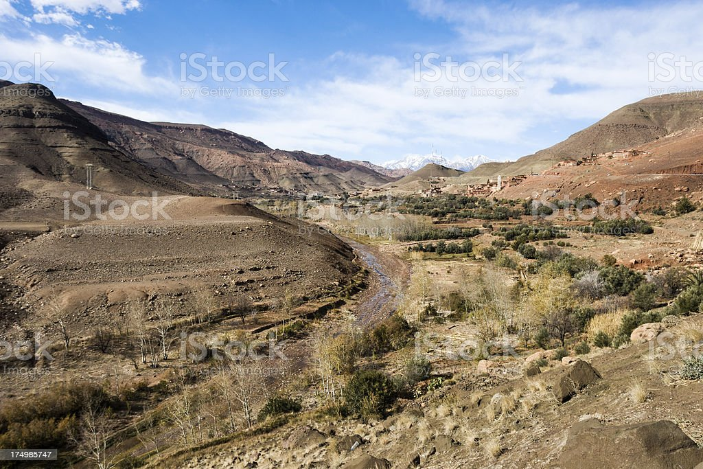 Atlas mountains landscape royalty-free stock photo