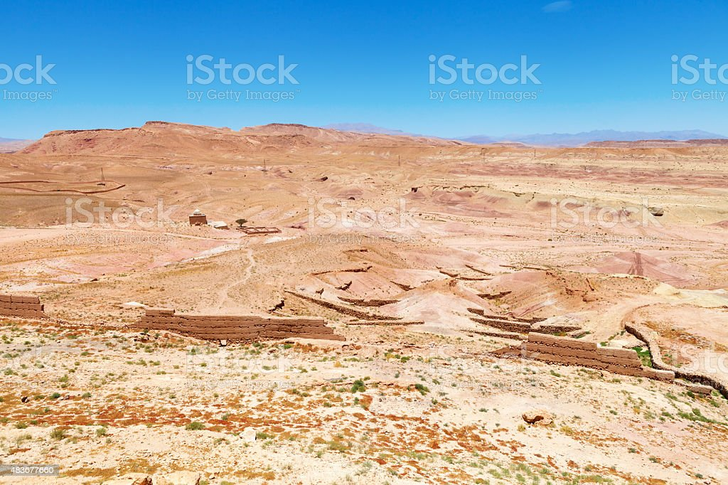 Atlas mountains panorama, Morocco royalty-free stock photo