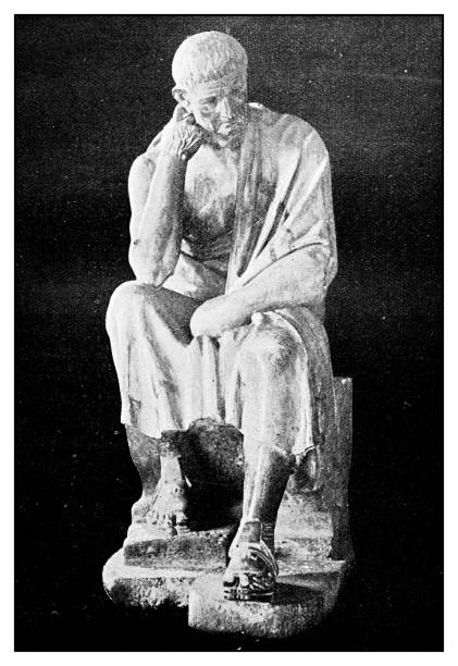 Atlas of Classical Portraits - Greek: Statue of Aristotle stock photo