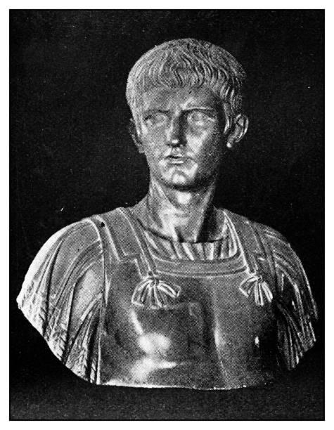atlas der klassischen porträts-roman: statue von caligula - caligula film stock-fotos und bilder